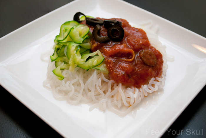 61 Calorie Dinner Zucchini Miracle Noodles And Sauce
