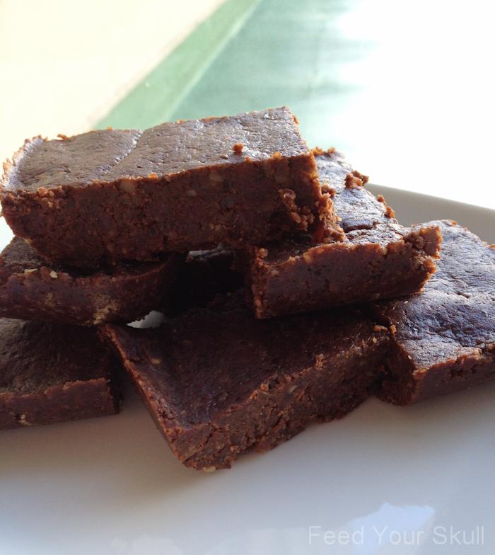 Chocolate Vanilla Cinnamon Raw Vegan Brownies