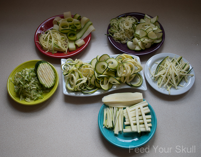how to use a mandoline to make zucchini noodles