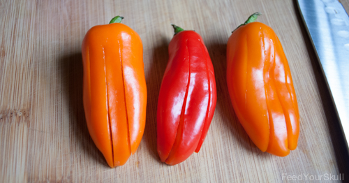 How to Cut Mini Peppers Quickly