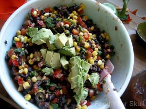 Ultimate Vegetable Taco Dip Platter