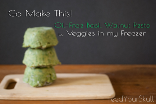 Oil-Free Basil Walnut Pesto