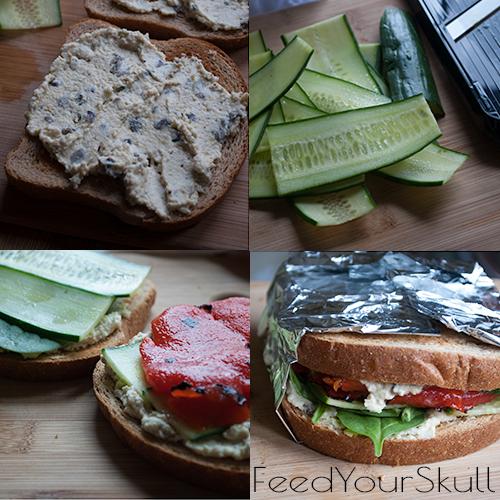 Mediterranean Olive Hummus Sandwich