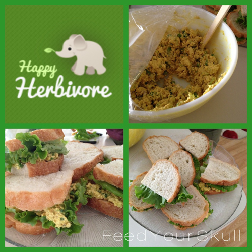 Happy Herbivore Eggless Salad