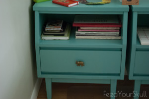 Nightstand Upcycle to Office Storage