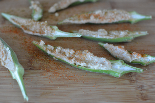 Okra Tahini Snack | Feed Your Skull a Snack
