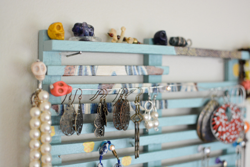 DIY Jewelry Organizer Upcycled Dish Drying Rack