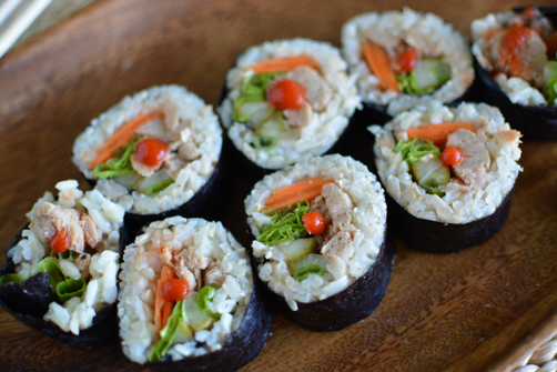 Vegan Tuna Salad Nori Rolls | Feed Your Skull