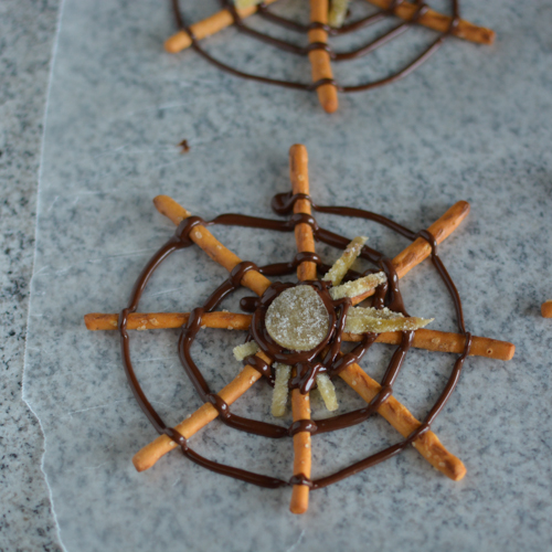 Chocolate Pretzel Spider Webs and Wicker Men (vegan) | Feed Your