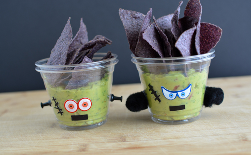 Frankenstein Guacamole Cups | Feed Your Skull