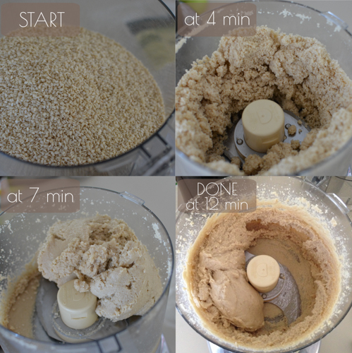 How to Make Sesame Seed Butter aka Tahini in the Food Processor