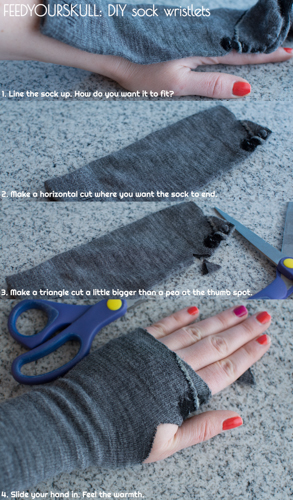 DIY sock wristlets | Feed Your Skull