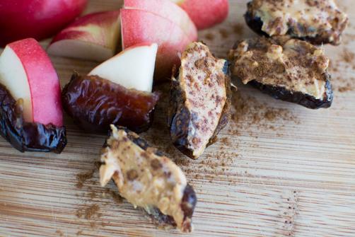 Caramel Apple Bites & PB Cinnamon Stuffed Dates