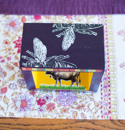 DIY: Upcycled Mixed Media Shadow Box