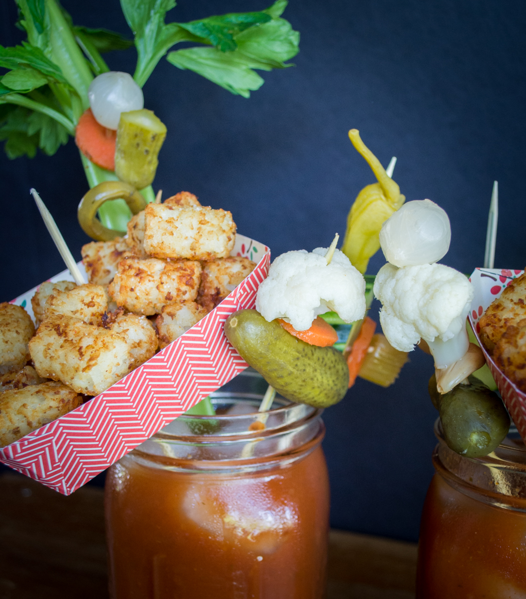 The Epic Vegan Bloody Mary Meal