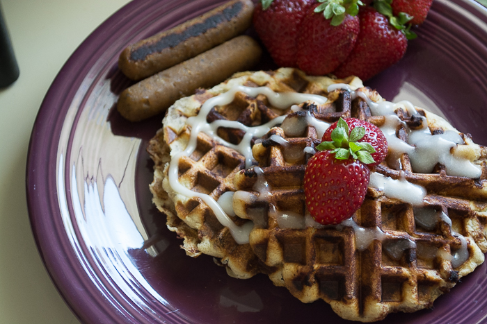 Cinnamon Roll Waffles | Feed Your Skull