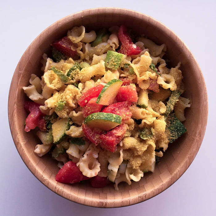 Leftover Pasta with CSA Veggies   Feed Your Skull