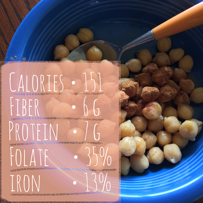 Feed Your Skull a Snack: Cinnamon Maple Chickpeas