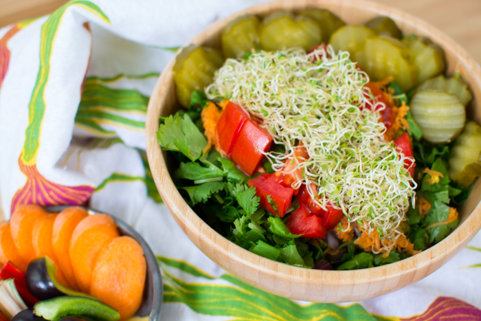Salad Inspiration and a Recipe for Gratitude Salad Dressing | Fe
