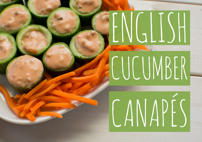 English Cucumber Canapés | Feed Your Skull