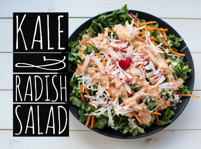 Kale & Radish Salad | Feed Your Skull