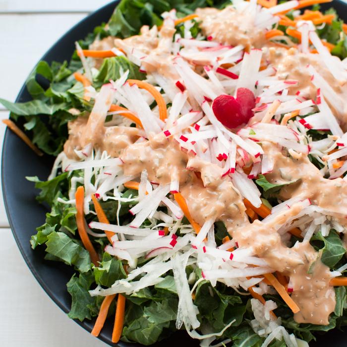 Kale & Radish Salad | Feed Your Skull