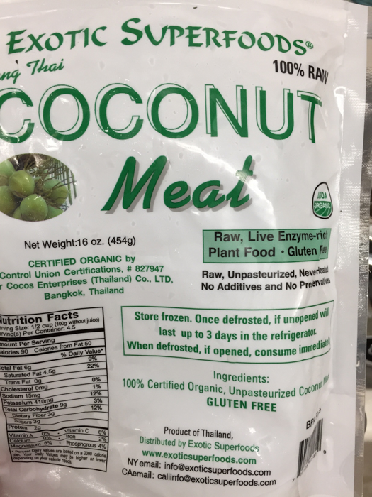 Thai Young Coconut Meat   Feed Your Skull