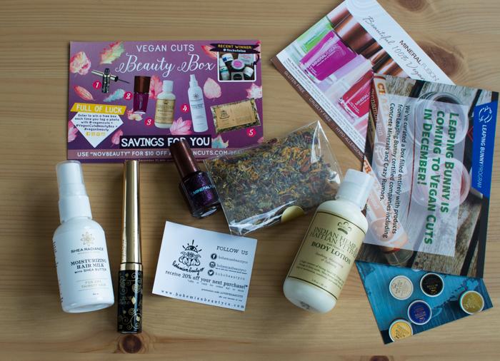 November 2015 Vegan Cuts Beauty Box | Feed Your Skull