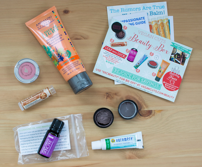 December 2015 Vegan Cuts Beauty Box Review | Feed Your Skull