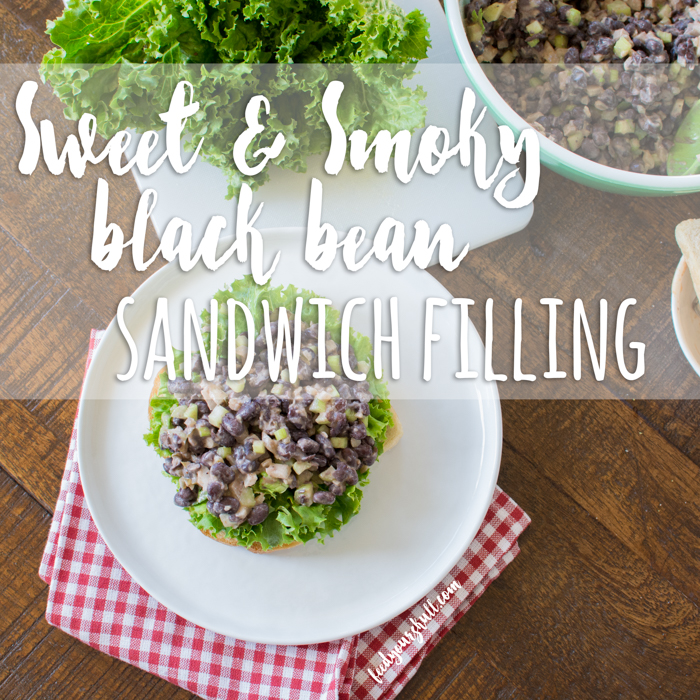 Sweet & Smoky Black Bean Sandwich Filling | Feed Your Skull