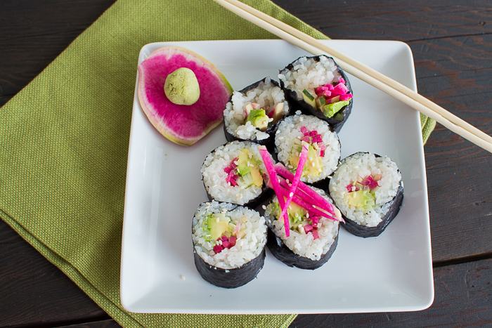 Watermelon Radish Sushi | Feed Your Skull