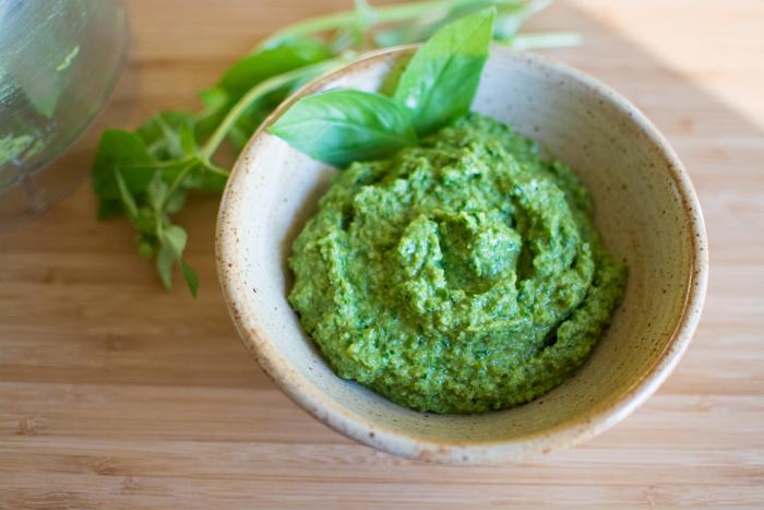Creamy Garlic Scape Pesto | Feed Your Skull