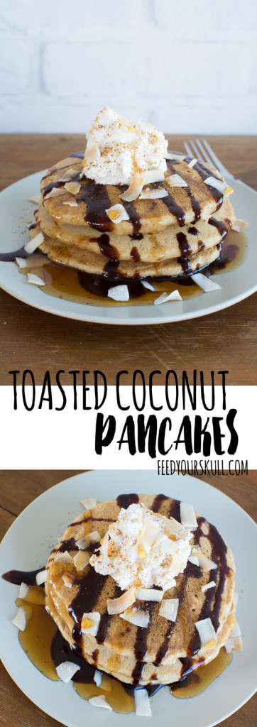 Toasted Coconut Pancakes | Feed Your Skull