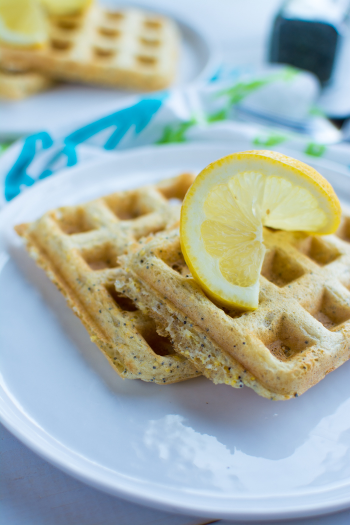 Lemon Poppyseed Waffles [vegan] | Feed Your Skull