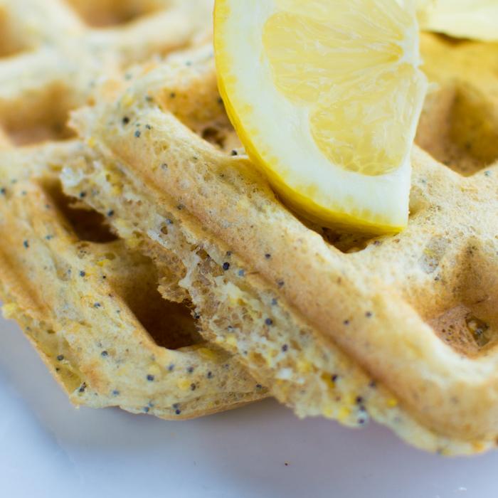 Lemon Poppyseed Waffles [vegan] | Feed Your Skull